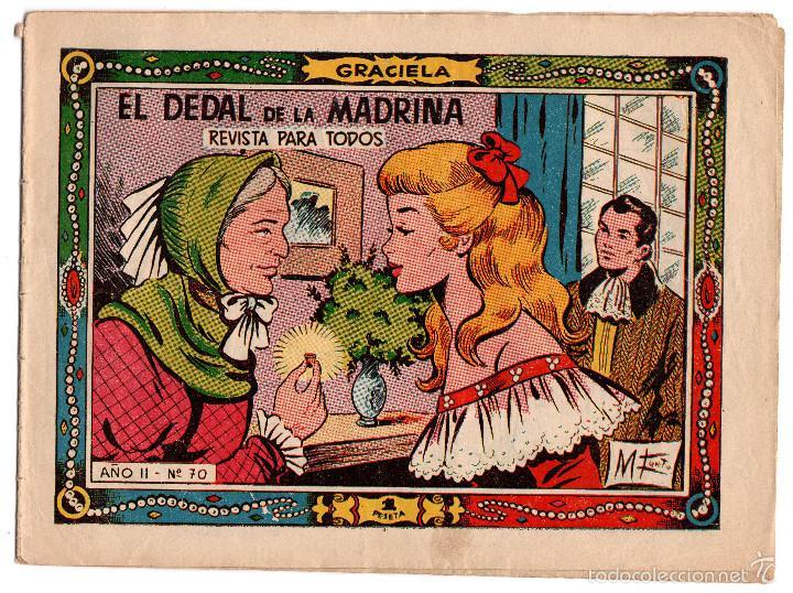 EL DEDAL DE LA MADRINA COLECCIÓN GRACELA Nº70 (Tebeos y Comics - Ricart - Gacela)