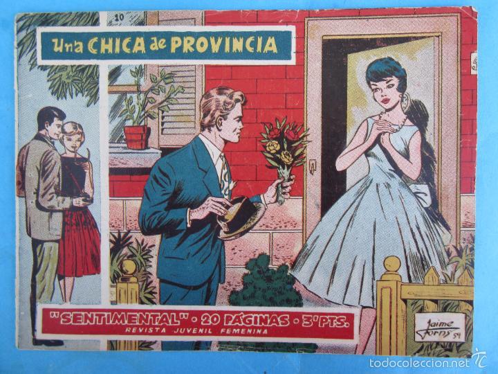SENTIMENTAL NUMERO 10 , UNA CHICA DE PROVINCIA , 20 PAGINAS , DE LOS PRIMEROS 1959 , RICART (Tebeos y Comics - Ricart - Sentimental)