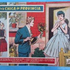 Tebeos: SENTIMENTAL NUMERO 10 , UNA CHICA DE PROVINCIA , 20 PAGINAS , DE LOS PRIMEROS 1959 , RICART. Lote 58273772