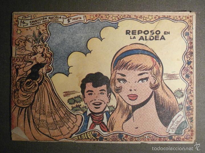 TEBEO - COMIC - COLECCION GACELA - REPOSO EN LA ALDEA - CUENTOS NIÑAS - RICART - AÑO 1959 - Nº 127 (Tebeos y Comics - Ricart - Gacela)
