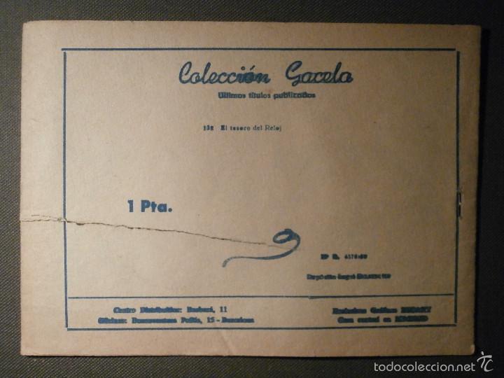 Tebeos: TEBEO - COMIC - COLECCION GACELA - EL TESORO DEL RELOJ - RICART - AÑO 1959 - Nº 132 - Foto 2 - 58594977