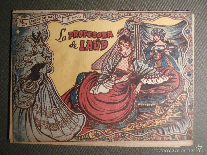 TEBEO - COMIC - COLECCION GACELA - LA PROFESORA DE LAÚD - CUENTOS NIÑAS - RICART - AÑO 1959 - Nº 126 (Tebeos y Comics - Ricart - Gacela)