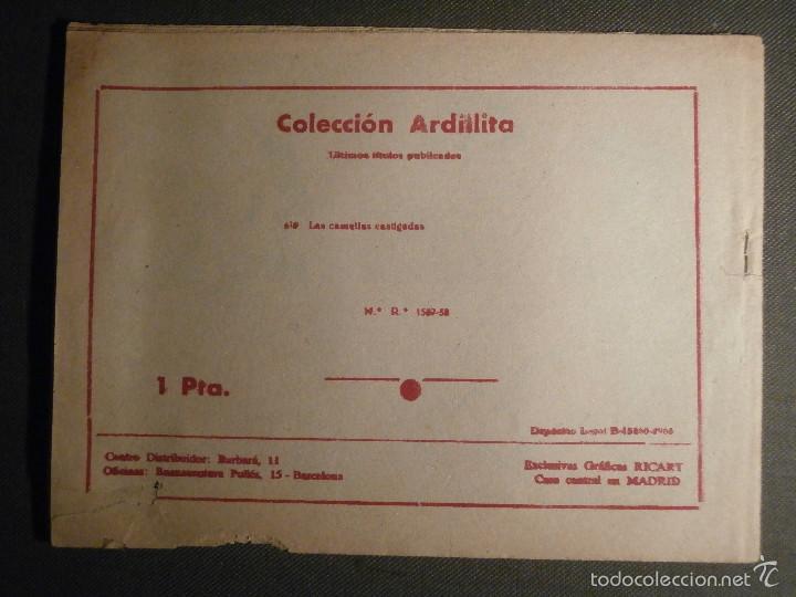 Tebeos: TEBEO - COMIC - COLECCION ARDILLITA - LAS CAMELIAS CASTIGADAS - RICART - Nº 679 - AÑO 1958 - Foto 2 - 58595482