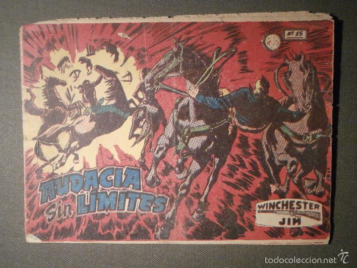 TEBEO - COMIC - WINCHESTER JIM - AUDACIA SIN LIMITES - Nº 15 - RICART - 1955 - ORIGINAL (Tebeos y Comics - Ricart - Otros)