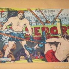 Tebeos: AVENTURAS DEPORTIVAS Nº 1, PUÑOS DE ACERO, ED. RICART, AÑO 1963, BOXEO. Lote 61411719