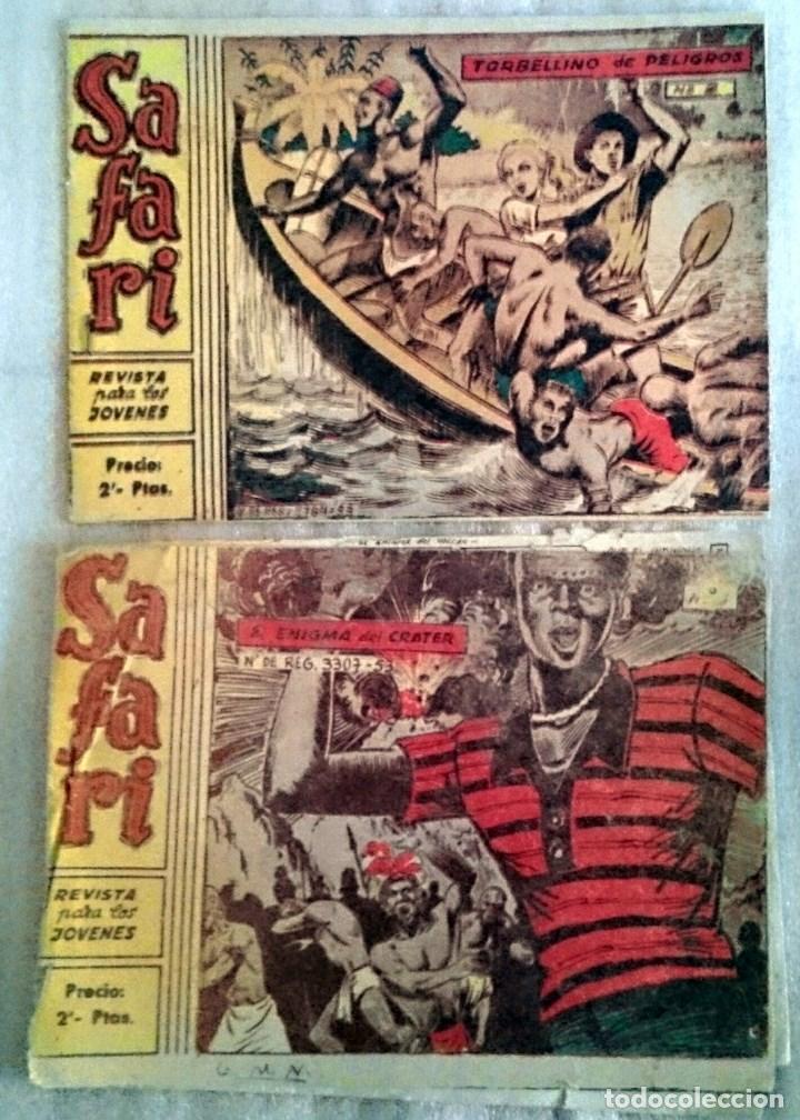 SAFARI Nº 3 Y 5. RICART, 1963. USADOS. (Tebeos y Comics - Ricart - Safari)