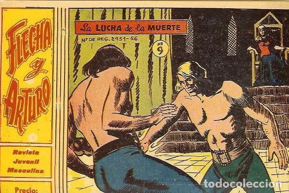 FLECHA Y ARTURO Nº 9 ORIGINAL (Tebeos y Comics - Ricart - Flecha y Arturo)