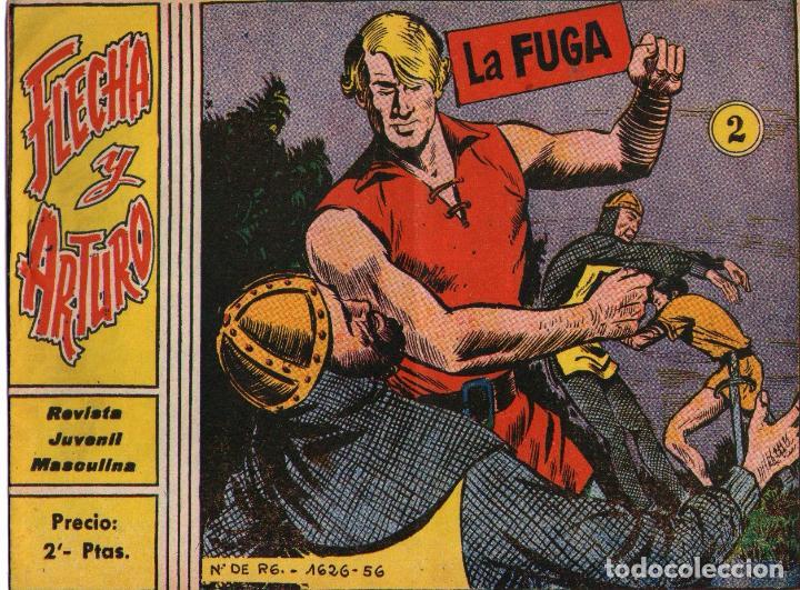 FLECHA Y ARTURO - Nº 2 - LA FUGA - EDITORIAL RICART - ORIGINAL 1965 (2 PTAS) (Tebeos y Comics - Ricart - Flecha y Arturo)