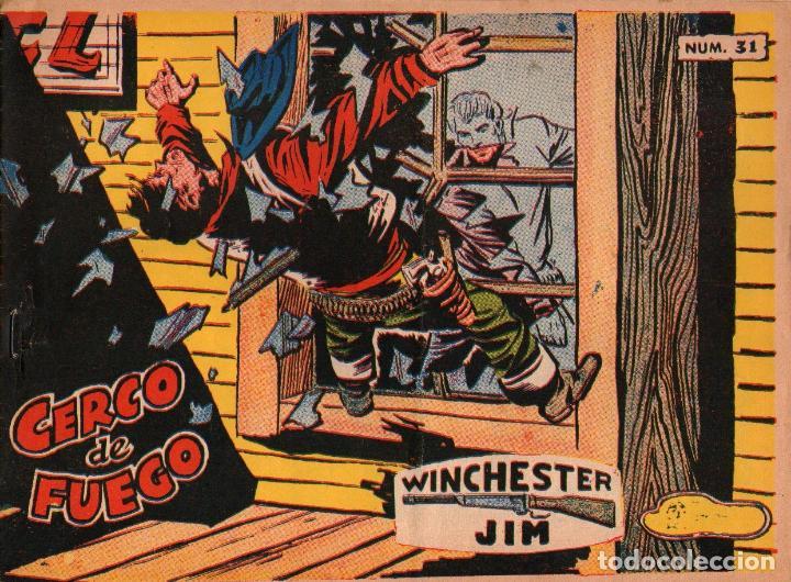 WINCHESTER JIM - Nº 31 - CERCO DE FUEGO - EDITORIAL RICART - ORIGINAL 1965 (2 PTAS) (Tebeos y Comics - Ricart - Otros)
