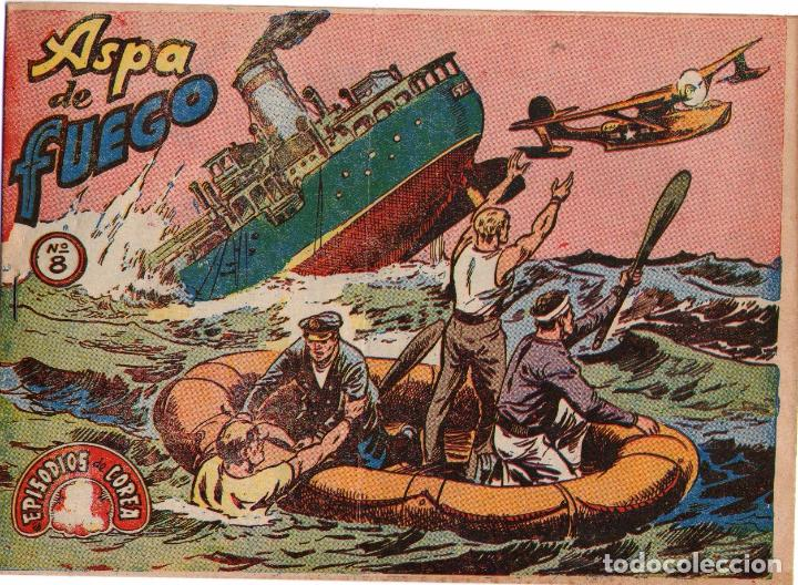 EPISODIOS EN COREA - Nº 8 - ASPA DE FUEGO - EDITORIAL RICART - ORIGINAL (2 PTAS) (Tebeos y Comics - Ricart - Otros)