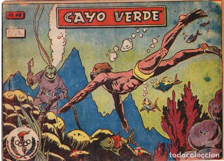 AVENTURAS DEPORTIVAS - Nº 14 - CAYO VERDE - EDITORIAL RICART - ORIGINAL (2 PTAS) (Tebeos y Comics - Ricart - Aventuras Deportivas)