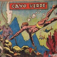 Tebeos: AVENTURAS DEPORTIVAS - Nº 14 - CAYO VERDE - EDITORIAL RICART - ORIGINAL (2 PTAS). Lote 74562007