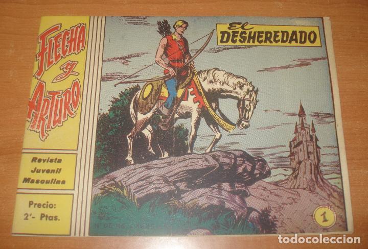 FLECHA Y ARTURO. EL DESHEREDADO. Nº 1. EXCLUSIVAS GRÁFICAS RICART. (Tebeos y Comics - Ricart - Flecha y Arturo)