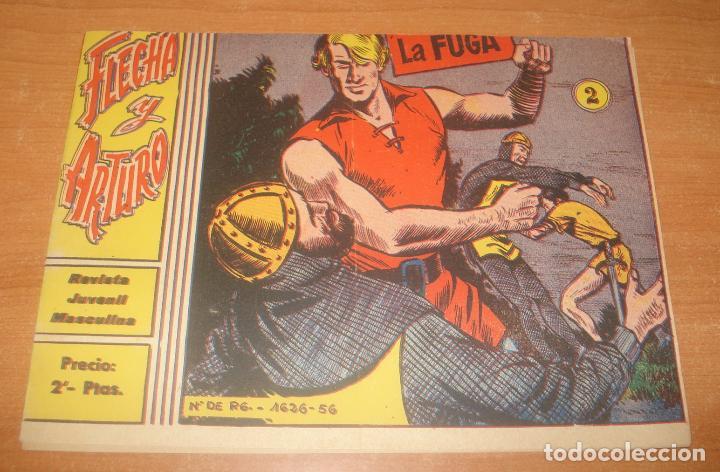 FLECHA Y ARTURO. LA FUGA. Nº 2. EXCLUSIVAS GRÁFICAS RICART. (Tebeos y Comics - Ricart - Flecha y Arturo)