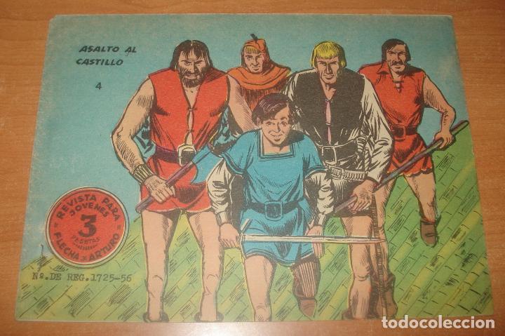 FLECHA Y ARTURO. ASALTO AL CASTILLO. Nº 4. EXCLUSIVAS GRÁFICAS RICART. VERSIÓN 2. (Tebeos y Comics - Ricart - Flecha y Arturo)