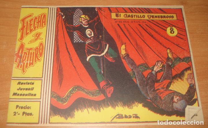 FLECHA Y ARTURO. EL CASTILLO TENEBROSO. Nº 8. EXCLUSIVAS GRÁFICAS RICART. (Tebeos y Comics - Ricart - Flecha y Arturo)
