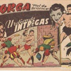 Tebeos: JORGA PIEL DE BRONCE, 2ª EPOCA, AÑO 1.963. Nº 2 - 5 - 10 - 13. ORIGINALES EDITORIAL RICART.. Lote 84350140