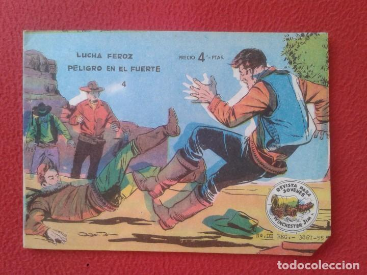 REVISTA COMIC TEBEO WINCHESTER JIM LUCHA FEROZ PELIGRO EN EL FUERTE 4 GRAFICAS RICART. PARA JÓVENES (Tebeos y Comics - Ricart - Otros)
