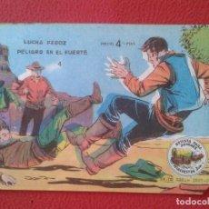 Tebeos: REVISTA COMIC TEBEO WINCHESTER JIM LUCHA FEROZ PELIGRO EN EL FUERTE 4 GRAFICAS RICART. PARA JÓVENES . Lote 91470110
