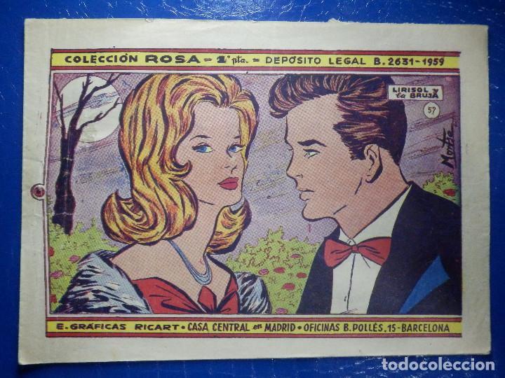 TEBEO - COMIC - COLECCIÓN ROSA - LIRISOL Y LA BRUJA - Nº 57 - AÑO 1959 (Tebeos y Comics - Ricart - Otros)