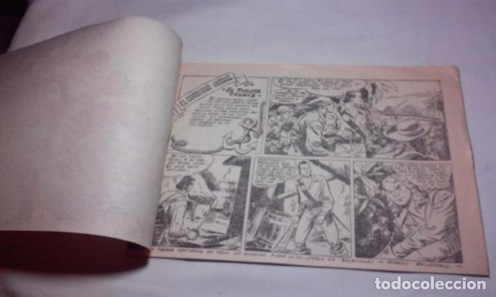 Tebeos: EL CORSARIO AUDAZ. COMIC EL PIRATA TAXUIX N° 3 AÑO 1955 ORIGINAL. - Foto 2 - 92723325