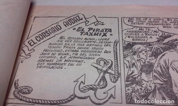 Tebeos: EL CORSARIO AUDAZ. COMIC EL PIRATA TAXUIX N° 3 AÑO 1955 ORIGINAL. - Foto 3 - 92723325
