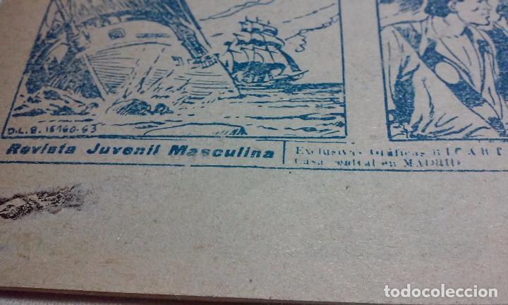 Tebeos: EL CORSARIO AUDAZ. COMIC EL PIRATA TAXUIX N° 3 AÑO 1955 ORIGINAL. - Foto 5 - 92723325
