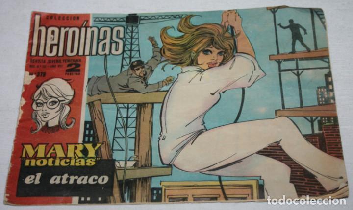 EL ATRACO, HEROINAS REVISTA JUVENIL FEMENINA, I.M.D.E. 1962, JOAN MANUEL SERRAT CONTAPORTADA, COMIC (Tebeos y Comics - Ricart - Golondrina)