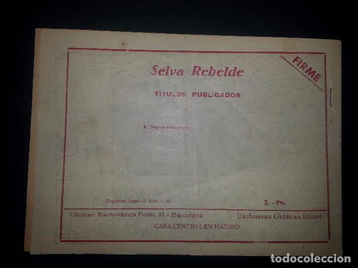 Tebeos: SELVA REBELDE Nº1 ( RICART,1956 ) - Foto 2 - 94211115