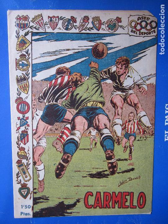 ASES DEL DEPORTE , N. 12 , CARMELO , PORTERO ATLETICO DE BILBAO , EDITORIAL RICART (Tebeos y Comics - Ricart - Otros)
