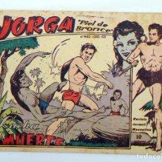 Tebeos: JORGA PIEL DE BRONCE 10. LUCHA A MUERTE RICART, 1963. ORIGINAL. Lote 97066091