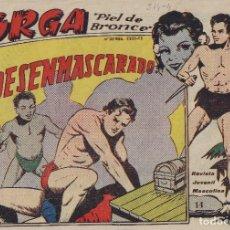 Tebeos: JORGA, PIEL DE BONCE, RICART, Nº 14, DESENMASCARADO, 1953. Lote 100456707