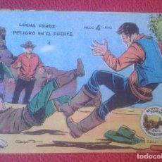 Tebeos: REVISTA COMIC TEBEO WINCHESTER JIM LUCHA FEROZ PELIGRO EN EL FUERTE 4 GRÁFICAS RICART. PARA JÓVENES. Lote 102951251