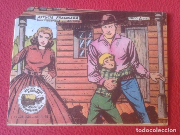 REVISTA COMIC TEBEO WINCHESTER JIM, RICART. PARA JÓVENES 7 ASTUCIA FRACASADA UNA CARAVANA EN PELIGRO (Tebeos y Comics - Ricart - Otros)