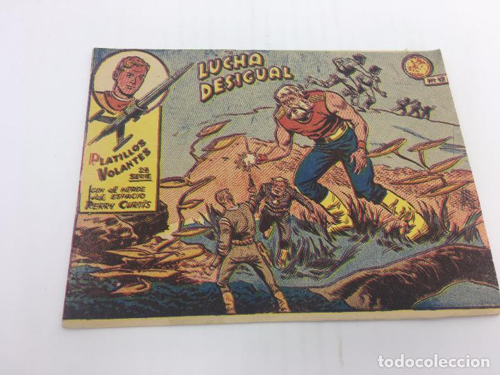 PLATILLOS VOLANTES 2ª SERIE Nº 13 LUCHA DESIGUAL EDITA RICART - 1956 (Tebeos y Comics - Ricart - Otros)