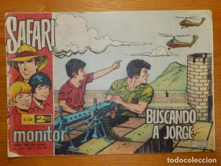 TEBEO - COMIC - SAFARI - BUSCANDO A JORGE - Nº 34 - RICART - (Tebeos y Comics - Ricart - Safari)