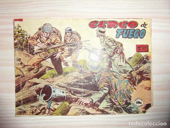 CERCO DE FUEGO. Nº 10 DE SELECCIONES DE GUERRA. RICART. 1954 (Tebeos y Comics - Ricart - Otros)