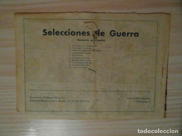 Tebeos: Cerco de fuego. nº 10 de selecciones de guerra. Ricart. 1954 - Foto 2 - 107943007