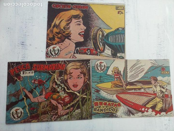 AVENTURAS DEPORTIVAS RICART ORIGINALES 1 PTS. - 1957 NºS - 9,17,19 (Tebeos y Comics - Ricart - Aventuras Deportivas)