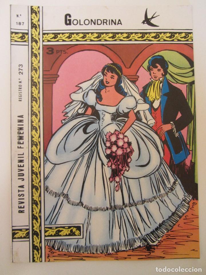 GOLONDRINA REVISTA JUVENIL FEMENINA Nº 187 (Tebeos y Comics - Ricart - Golondrina)
