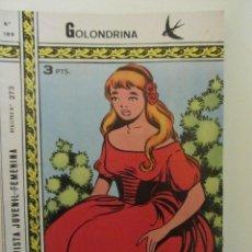 Tebeos: GOLONDRINA REVISTA JUVENIL FEMENINA Nº 189. Lote 114305627