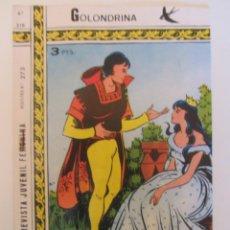 Tebeos: GOLONDRINA REVISTA JUVENIL FEMENINA Nº 216. Lote 182258438