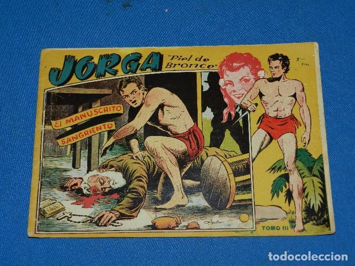 (M1) JORGA PIEL DE BRONCE TOMO III , GRAFICAS RICART , SEÑALES DE USO NORMALES DE LA EPOCA (Tebeos y Comics - Ricart - Jorga)