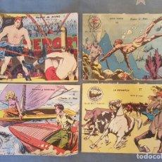 Tebeos: COMIC TEBEO,LOTE DE 4.AVENTURAS DEPORTIVAS RICART 1957 ORIGINAL Nº 1-6-11-17 VER ESTADO Y DETALLES.. Lote 120770155