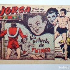 Tebeos: JORGA PIEL DE BRONCE 9. LA ASTUCIA DE TWINGO RICART, 1963. ORIGINAL. Lote 120931676