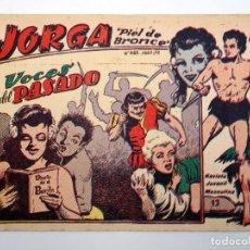 BDs: JORGA PIEL DE BRONCE 12. VOCES DEL PASADO RICART, 1963. ORIGINAL. Lote 120931798