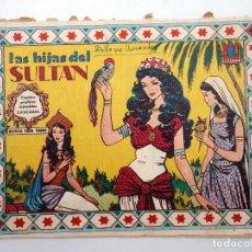 Tebeos: CUENTOS GRÁFICOS INFANTILES CASCABEL 210. LAS HIJAS DEL SULTÁN VALENCIANA, 1958. ORIGINAL. Lote 121144403
