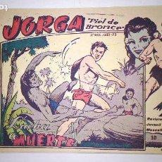 Tebeos: * JORGA PIEL DE BRONCE * GRAFICAS RICART 1954 * Nº 5 Y 10 *. Lote 121234839