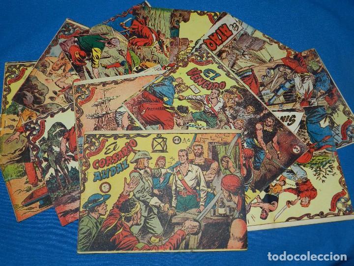 (M3) EL CORSARIO AUDAZ - COMPLETA DEL NUM 1 AL 15 , GRAFIAS RICART 1955 , BUEN ESTADO (Tebeos y Comics - Ricart - Otros)
