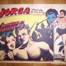 Tebeos: JORGA 'PIEL DE BRONCE'. Nº 6 : SOMBRAS DE PERDICIÓN. - BARCELONA : RICART, [D.L. 1963]. Lote 122536019